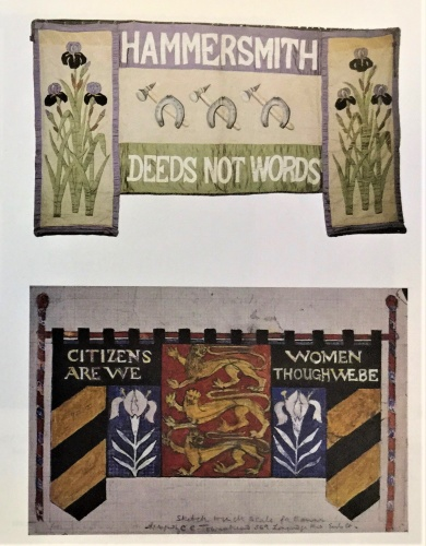 The suffragettes used embroidery and other inventive artistic techniques to produce banners promoting their cause in the early 20th century