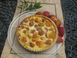 PEACH & SOURED CREAM TART recipe