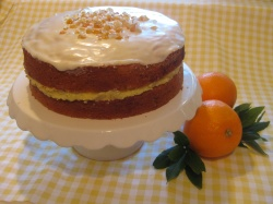 ORANGE CAKE WITH ORANGE FILLING & ICING recipe