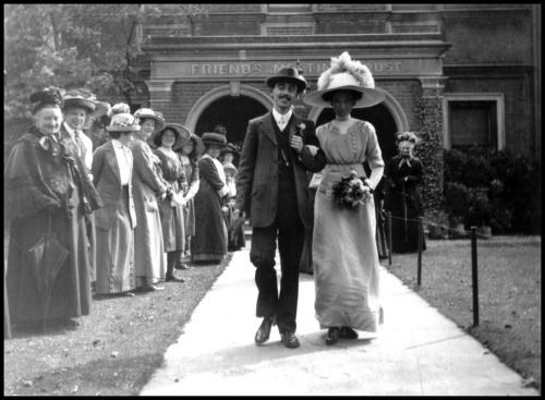 Quaker wedding c1900.