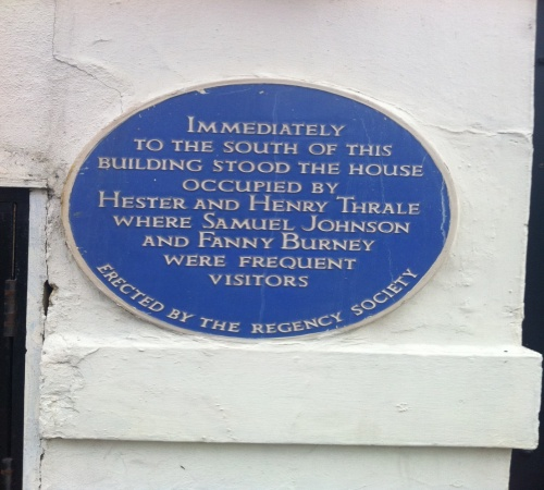 """Frances (Fanny) Burney (1752-1840) master of the novel of social courtship and, according to Virginia Woolf, """"The Mother of English fiction."""" A frequent visitor to 77 West Street, Brighton."""